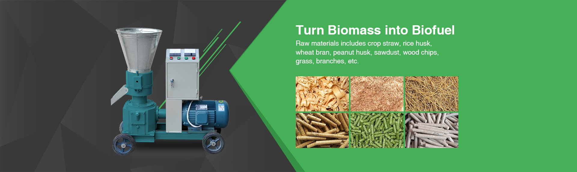 biomass materials for pellet making machine
