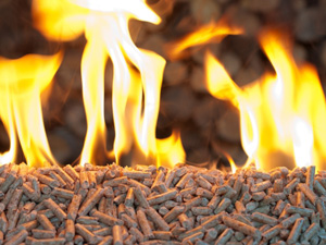 biomass pellet burning