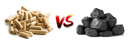 Compare biomass fuel with coal and natural gas