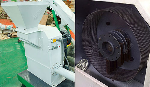 hammer mill in all in one pellet plant