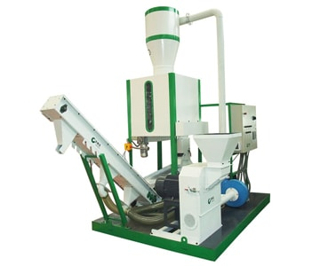 Integrated wood pellet plant