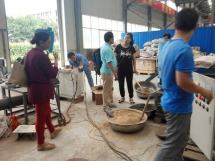 Malaysia clients came to visit TICO's pellet mill factory
