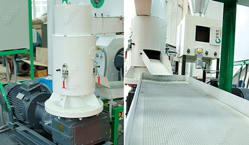 pellet mill and vibrating sieve
