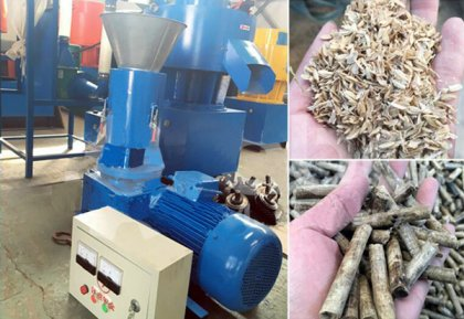 Rice husk pellet machine and wood crusher for French client