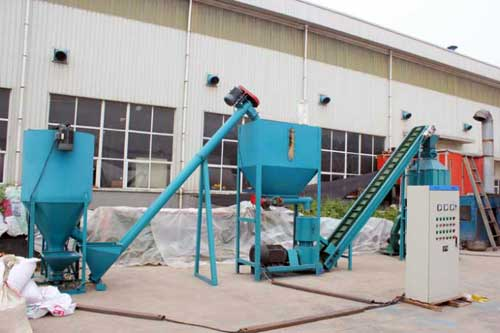 screw conveyor in wood pellet plant