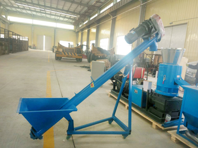 Screw feeder and diesel pellet machine exported to Philippine
