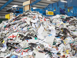 waste paper pile