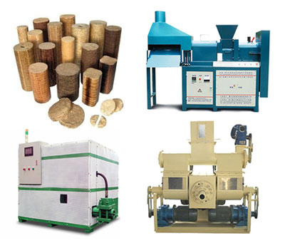 What are the types of wood briquette machine?