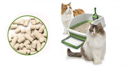 Make your own paper pellet and wood pellet cat litter